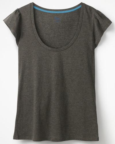 Superweiches Flatter-T-Shirt Grey Damen