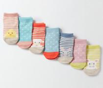 Socken im 7er-Pack Gepunktet Baby Boden