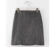 Minirock aus britischem Tweed Grau Damen