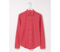 Leinen-Baumwoll-Hemd Rot Herren
