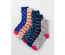 Socken im 5er-Pack Gepunktet Mädchen