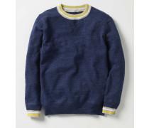 Sportlicher Pullover mit Rundhalsausschnitt Navy Jungen Boden