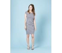 Kleid mit Raffung Gestreift Damen Boden