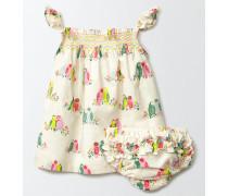 Sommerliches gesmoktes Kleid Bunt Baby Boden