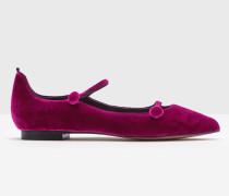 Flache Federica Schuhe Purple Damen