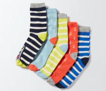 Socken im 5er-Pack Gestreift Mädchen