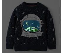 Weltraumforscher Sweatshirt Dunkelblau Jungen