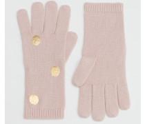 Handschuhe mit Metallic-Tupfen Pink Damen Boden