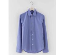 Elegantes Hemd mit schmaler Passform Blau Herren Boden