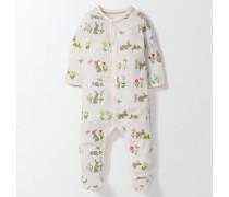 Superweicher Schlafanzug mit Häschen Elfenbeinfarben