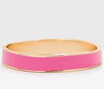 Schmaler Emaille-Armreif Pink Damen Boden