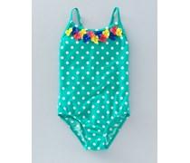 Hübscher Badeanzug Gr�n Mädchen Boden