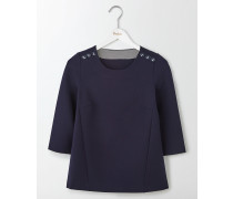 Evie Ponte-Shirt Navy Damen