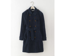 Trenchcoat aus Veloursleder Navy Damen