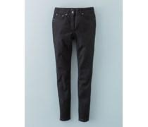 7/8-Jeans mit Reißverschluss Schwarz Damen