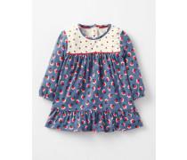 Fließendes Kleid mit Mustermix Lila Baby Boden