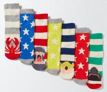 Socken im 7er-Pack Gestreift Jungen