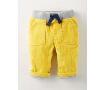 Hose mit Rippstrickbund Gelb Baby Boden