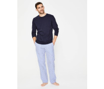 Pyjamahose aus Baumwollpopeline Blue Herren