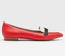 Flache Schuhe in Blockfarben Rot Damen