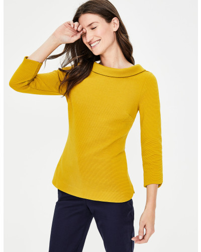Sarah Ottoman-Shirt Yellow Damen
