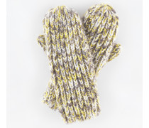 Grobstrickfäustlinge Gelb Damen Boden