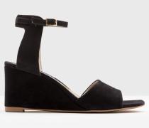 Demi Schuhe mit Keilabsatz in Rubinrot Navy Damen