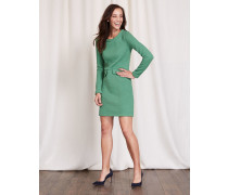 Jacquardkleid im Sechziger-Stil Grün Damen