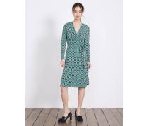 Jerseykleid in Wickeloptik Green Damen