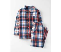 Gewebtes Pyjamaset Rot Jungen