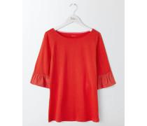 Rae T-Shirt mit Rüschenärmeln Red Damen