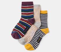 Socken im Dreierpack Grey Damen