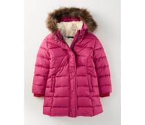 Lange Jacke mit Wattierung Pink Mädchen