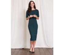 Barbara Kleid aus Ponte-Roma-Jersey Dunkelgrün Damen