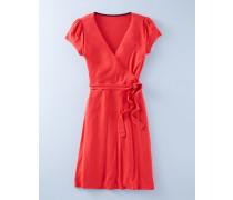 Sommerliches Wickelkleid Rot Damen Boden