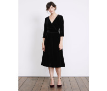 Farrah Samtkleid Black Damen