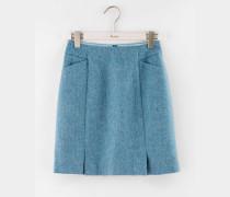 Minirock aus britischem Tweed Blau Damen