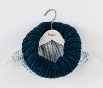 Merino-Schlauchschal Blau Damen Boden