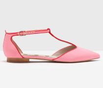 Flache Angelica Schuhe mit T-Steg Pink Damen
