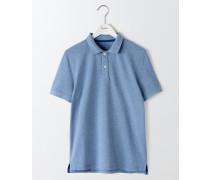 Piqué-Poloshirt Hellblau Herren