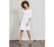 Henrietta Leinenkleid Weiß Damen