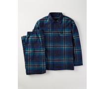 Pyjamaset aus gebürsteter Baumwolle Dunkelgr�n Herren