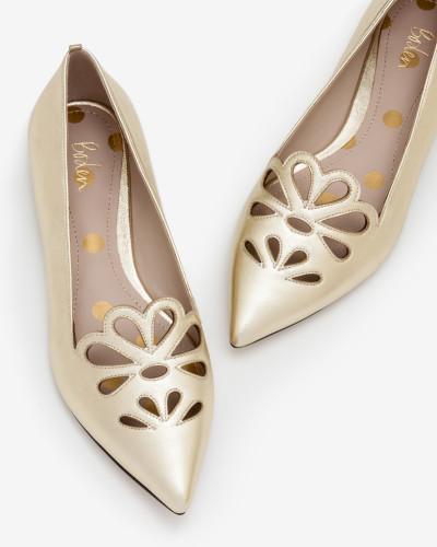 Eloise Flache Schuhe Gold Damen