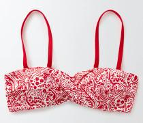 Amalfi Bandeau-Bikinioberteil Rot Damen