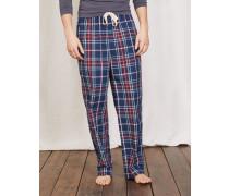 Pyjamahose aus Baumwollpopeline Navy Herren