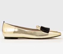 Flache Geraldine Schuhe Gold Damen