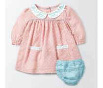 Kleid mit besticktem Kragen Pink Baby Boden