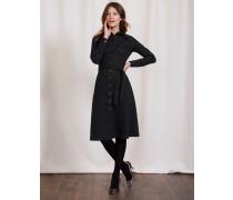 Laura Hemdblusenkleid aus Denim Schwarz Damen