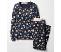 Pyjamaset mit Henleyshirt Navy Mädchen Boden