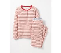 Pyjamaset mit Henleyshirt Pink Mädchen Boden